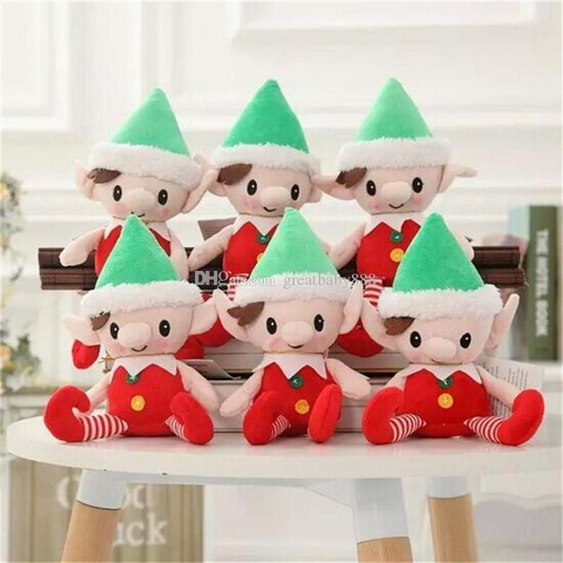 Christmas Santa Elf Plush Toys 30cm 12 Inches Cute Xmas Elf Dolls