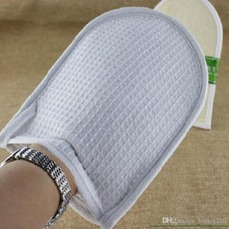 Envío gratis 50 unids baño Natural loofah baño guantes cepillo 20 * 15 CM