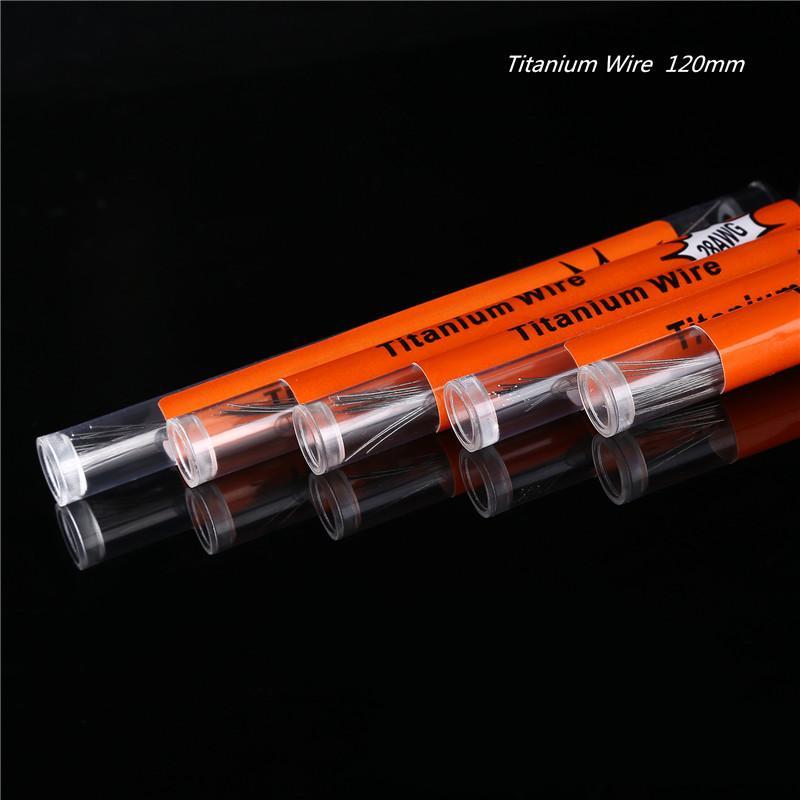 티타늄 와이어 가열 저항 코일 120mm 전선 코일 AWG 24g 26g 28g 30g 게이지 RZ RBA Vape Ecig DHL에 대 한 튜브 당