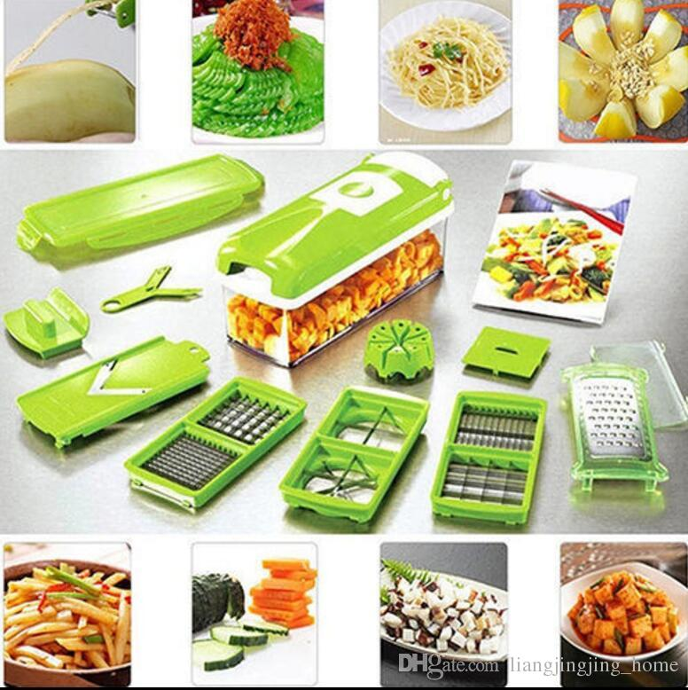 12 In 1 Vegetable Fruit Nicer Slicer Plus Chopper Cutter Peeler Vegetable Fruit Graters Peeler Cutter Slicer Cutting Kitchen Tool KKA2262