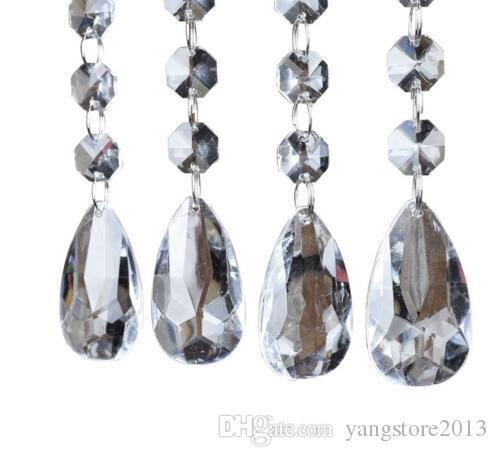 12 strands Acrylic Crystal Bead Hanging Strand For Wedding Manzanita Centerpiece Trees wedding centerpieces