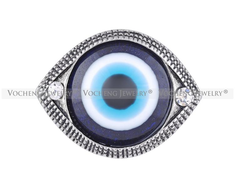 VOCHENG NOOSA 18mm Blue Eyes Snap Bouton Interchangeable Bijoux Vn-1136