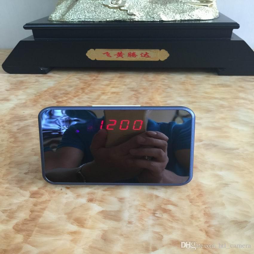 WiFi Mini Mirror Clock camera Baby monitor Full HD 1080P Mini IR night vision P2P camera motion detection alarm clock home security System