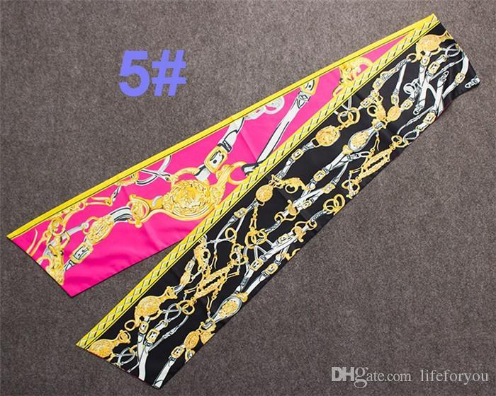 Graphic print Silk long Scarves snoods Boa Top women girls Fashion decorations Wrap Scarf Shawl Scarves neckerchief muffler Bandanna