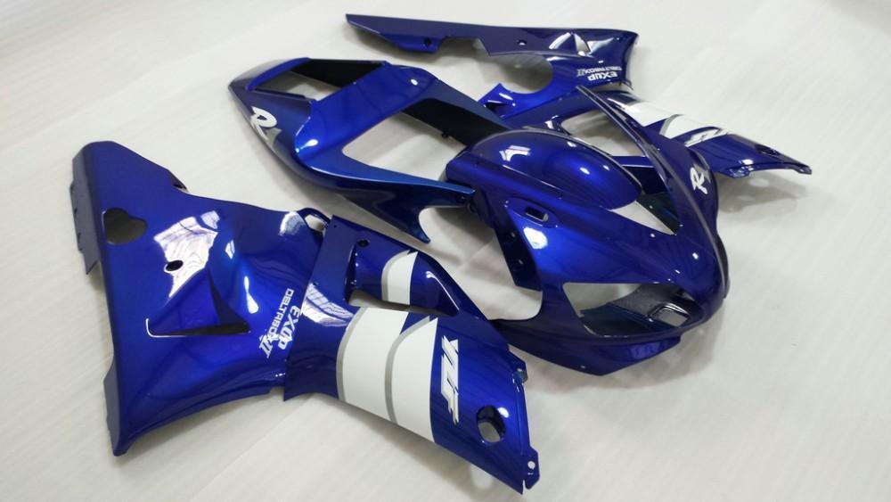 Injectiion Mold for YAMAHA YZFR1 1998 1999 faiirng kit YZF R1 YZR1000 R1 98 99 white blue Fairings set KJ14