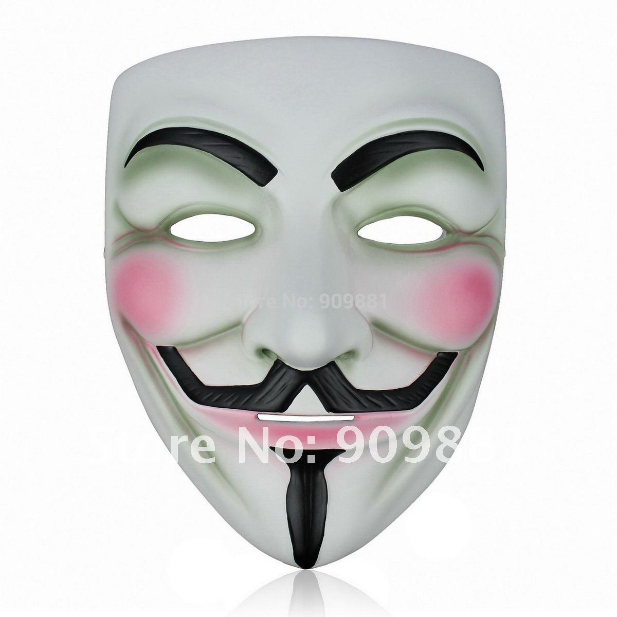 Brand New Resin V Mask Vendetta Halloween Party Face Mask Super ...