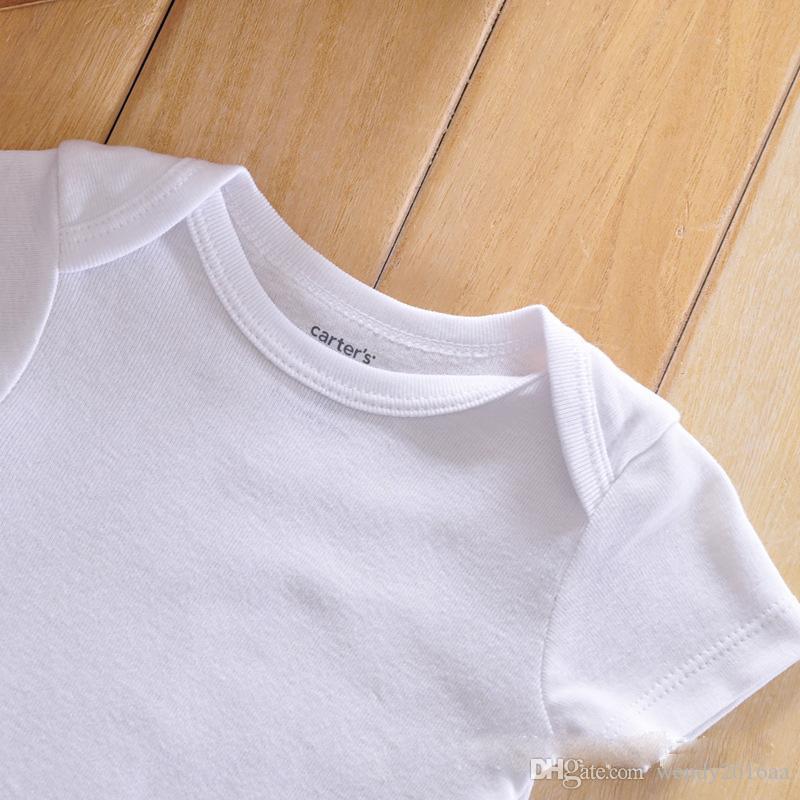 CheapBaby-Spielanzug-Klage-Sommer-Säuglingsdreieck-Spielanzug-Onesies Baumwolle 100% Kurzärmelige Babys kleidet reines Weiß für Jungen girlbestgift