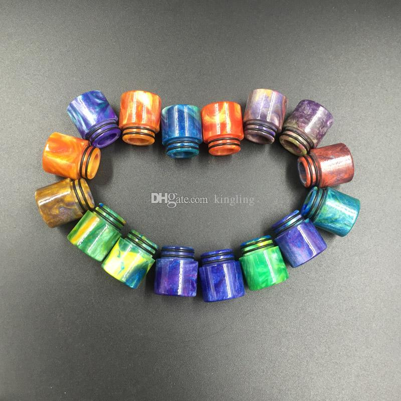 E-cigarettes Ecigs Vaporizer TFV8 810 Drip Tip Epoxy Resin Drip Tips for TFV8 Pretty pattern resin drip tips Mouthpiece Ecigarettes