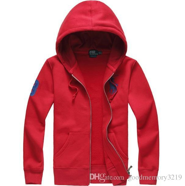 New Fashion Men's Autumn high quality pure cotton polo Shirt Large Size Business long sleeve hooded T-Shirt with Zipper