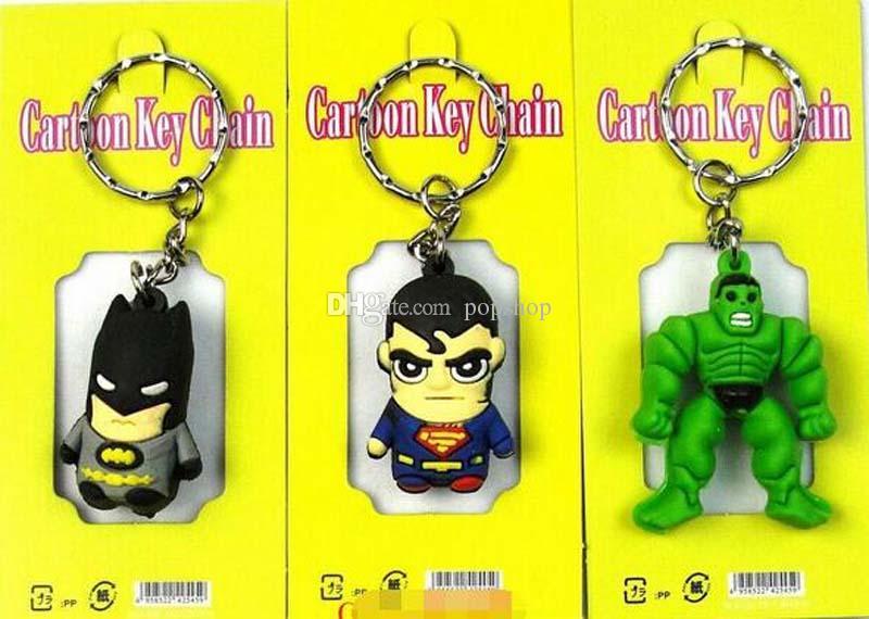 Livraison Gratuite Classique Avengers Héros 3D Stéréo Porte-clés Sac Pendentif Enfants Jouet Cadeaux Party Favors