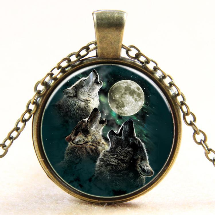 Necklace Pendants for Women Men Unique Necklace Glass Cabochon Silver Bronze Tradition Black Cat Picture Vintage Locket Chain Necklaces