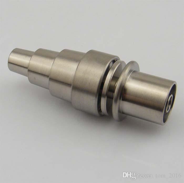 2016 Nuovo 10/14 / 18mm malefemale regolabile grado 2 Domeless chiodo chiodo senza chiodo in titanio bobina di lumaca da 15,8mm
