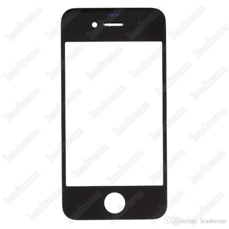 Front Outer Touch Screen Glass Replacement for iPhone 4 4s Black White Free DHL