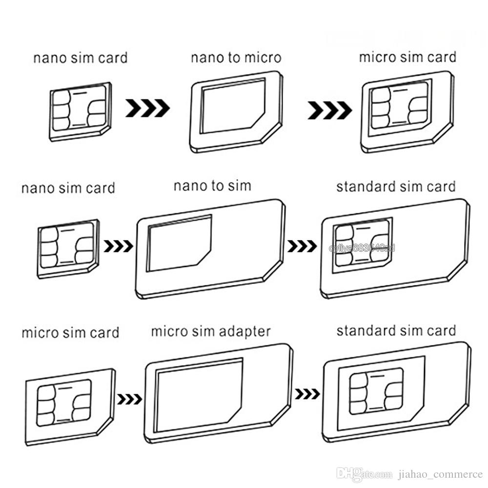 Metal design Cell Phone 5in1 SIM Adapter wholesale mobile phone accessory for cellphone Nano cards Micro cards standard cards