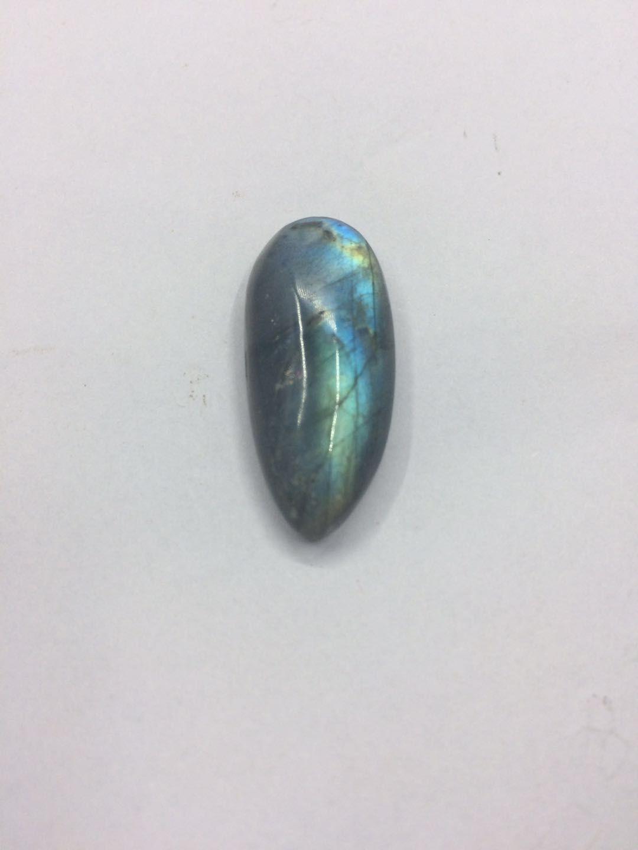 Pendentif en labradorite naturelle de reiki de guérison de cristal de pierre roulé bleu et jaune de la face polie pour la décoration