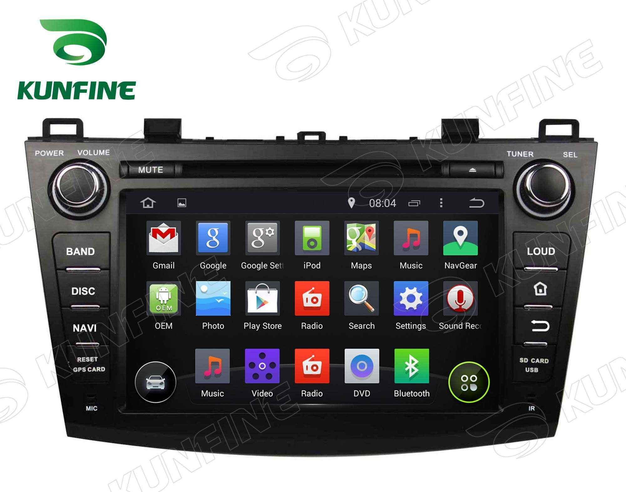 Quad Core Android 5.1 Car DVD GPS Navigation Player for Mazda 3 2009-2012 Radio Bluetooth steering wheel control 8 inch Screen 1024*600