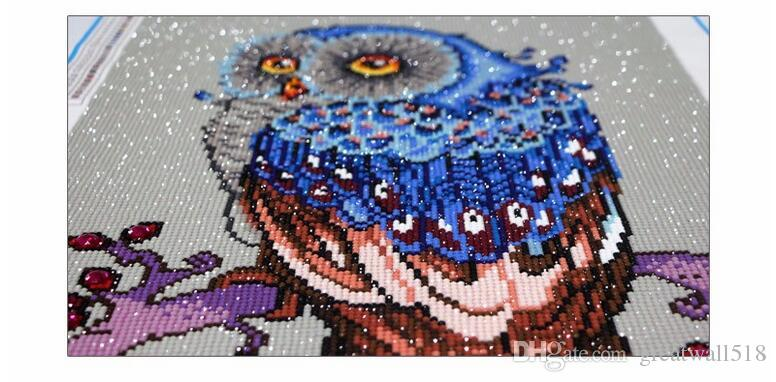 Полный, Алмаз вышивка, животное, Сова, 5D, Алмаз живопись, Вышивка Крестом, 3D, алмазная мозаика, рукоделие, ремесла, Рождество, DIY подарок MT-041