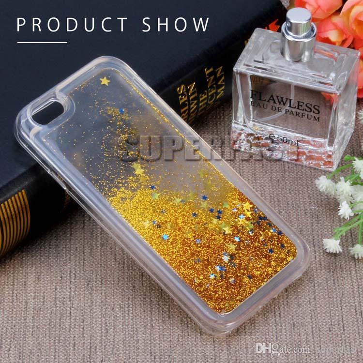 Soft TPU Water Gel Phone Case For Samsung J7 2017 LG V5 Bling Bling Liquid Case Quicksand Back Cover Case For Samsung S8 Plus LS 775