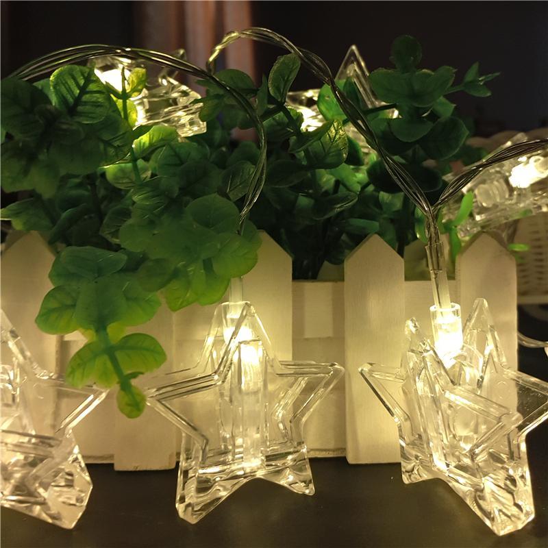 led string lights 3m 20 led star clip lights wedding party xmas