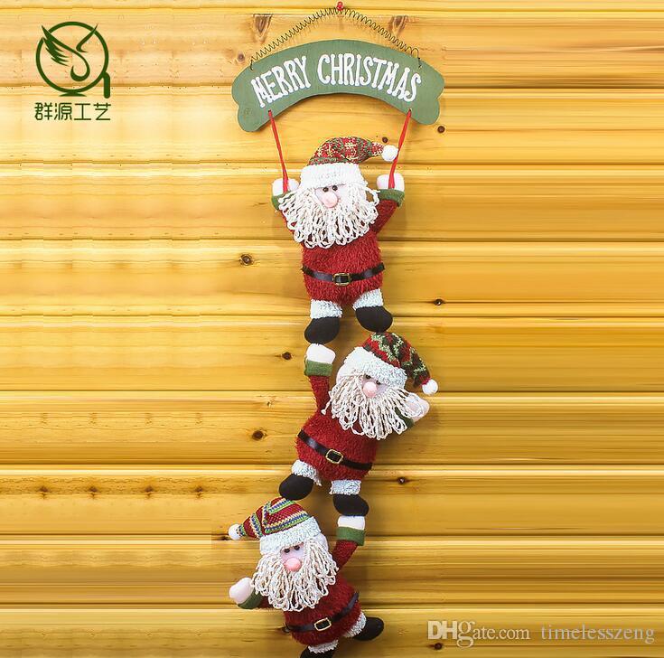 2016 Nouveau Style De Noël Poupée À Suspendre Fenêtre Ornements Père Noël Artisanat Festival De Noël Décorations Accessoires Cadeau De Noël
