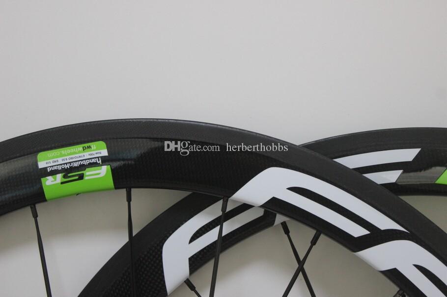 New Design 50mm Carbon Wheel Ffwd Green Logo 50mm Road Bike Wheelset Carbon Wholesale Matte Glossy
