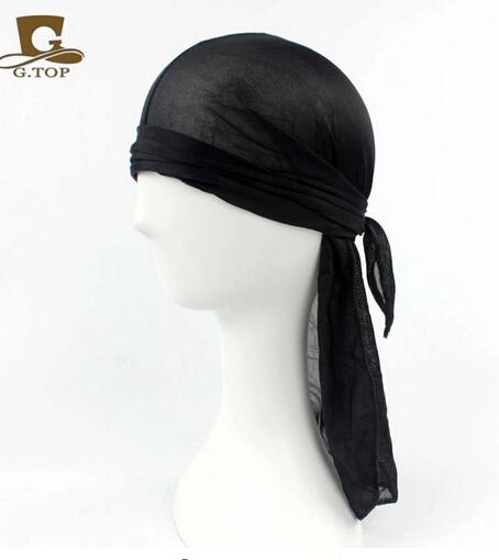 2016 luxury fashion unisex satin durag du rag doo rag head wrap silk