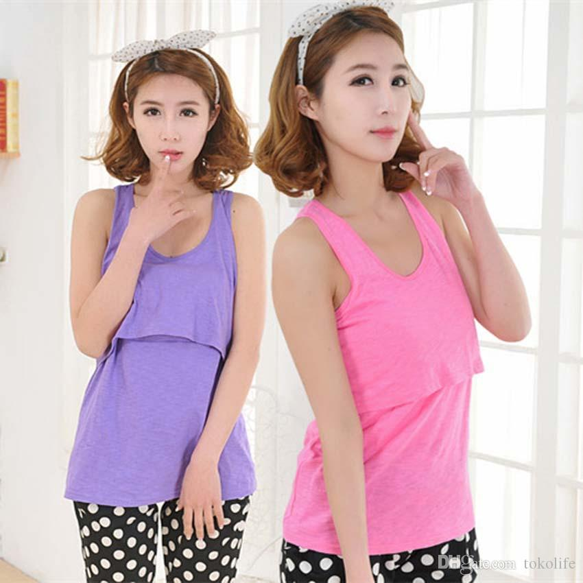 289206896849f 2019 Plus Size Maternity Supplies Clothes Maternity Shirt Top Nursing Tank  Top Breastfeeding Tops Pregnancy Clothes For Pregnant Women M L XL XXL From  ...