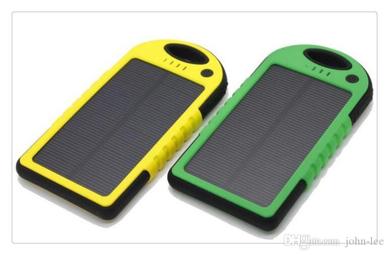 new style 5e5a4 8dd20 Wholesale Portable Solar Battery Charger Panel 5V Mobile Phone Smartphone  Cellphone Waterproof Mini Travel Outdoor Universal Power Bank