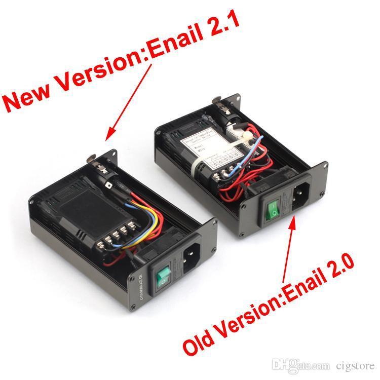 Atacado Enail D unha Dnail eletrônico controlador de temperatura caixa Para DIY Fumaça E Prego Bobina com Ti Prego para bongo de vidro