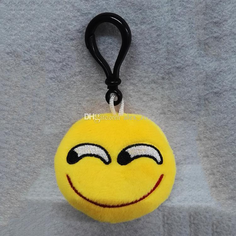 Nuevos 55 estilos de juguetes Emoji para niños Emoji llaveros mezclados Emoji llaveros bolsa colgante 5.5 * 2.5 cm envío gratis