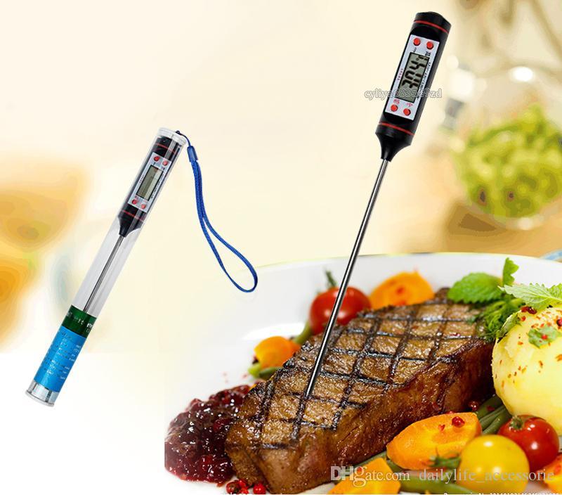 اللحوم ترمومتر المطبخ الرقمية طهي الطعام التحقيق شواء أداة للكشف عن درجة الحرارة المنزلية مع التغليف التجزئة