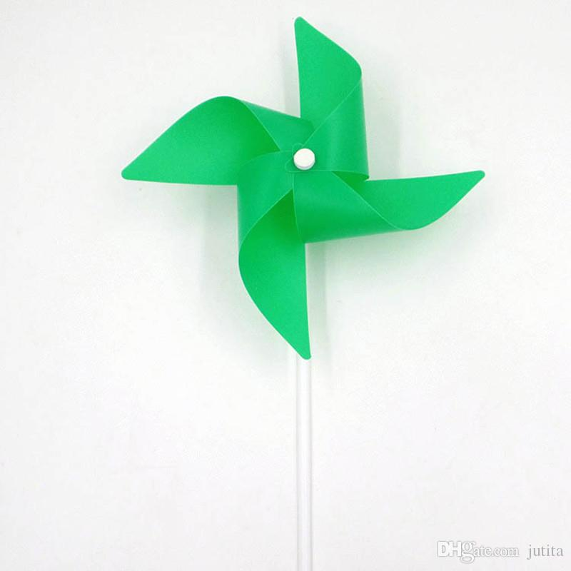 Colorful Windmill DIY Garden 4 Leaves Solid Color Windmill Wind Spinner Kids Children Outdoor Toys Wedding Party Decro
