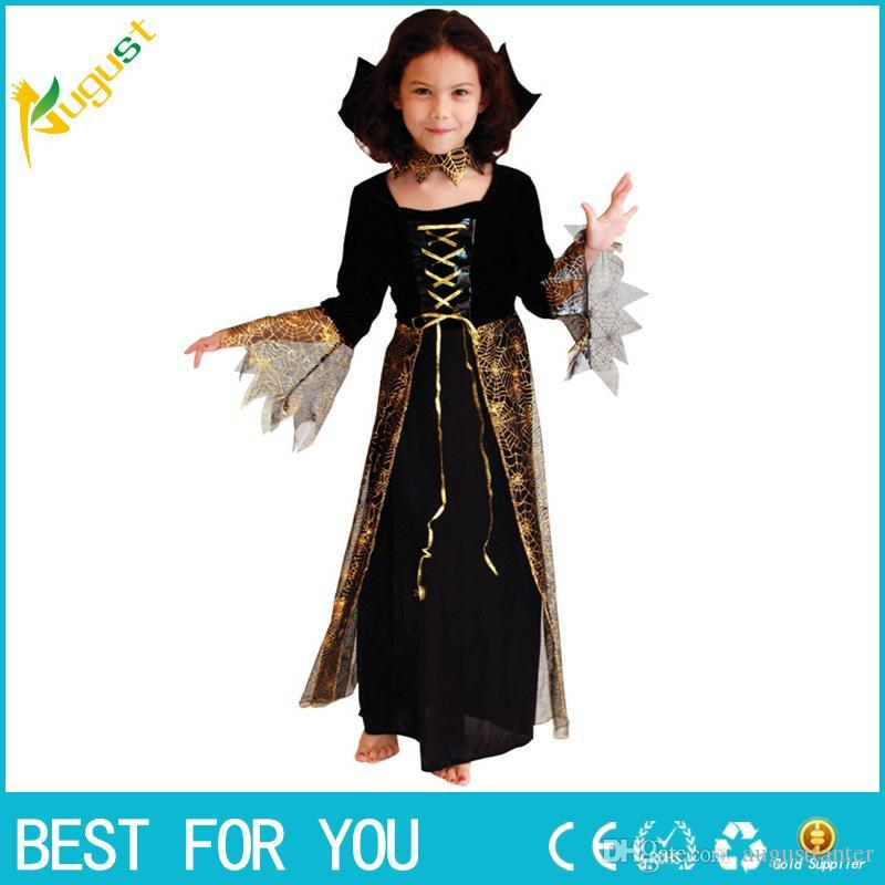 hot 2016 new beautiful spider girl children cosplay costume hallowean party witch costumes for kids cute dresses halloween costumes for groups of 5 fun - Spider Girl Halloween Costumes
