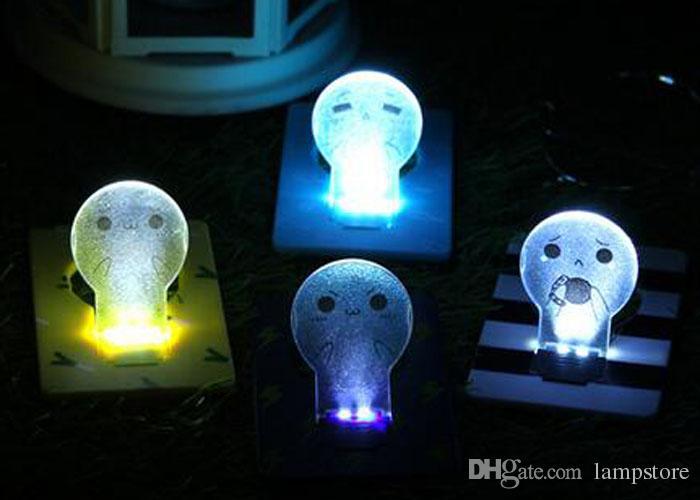 2016 De Économie D Lumière Lampe Portable Énergie Lumières Ampoule Avec Mignon Nouveau Poche Nuit Crédit Led Carte 35LRj4A