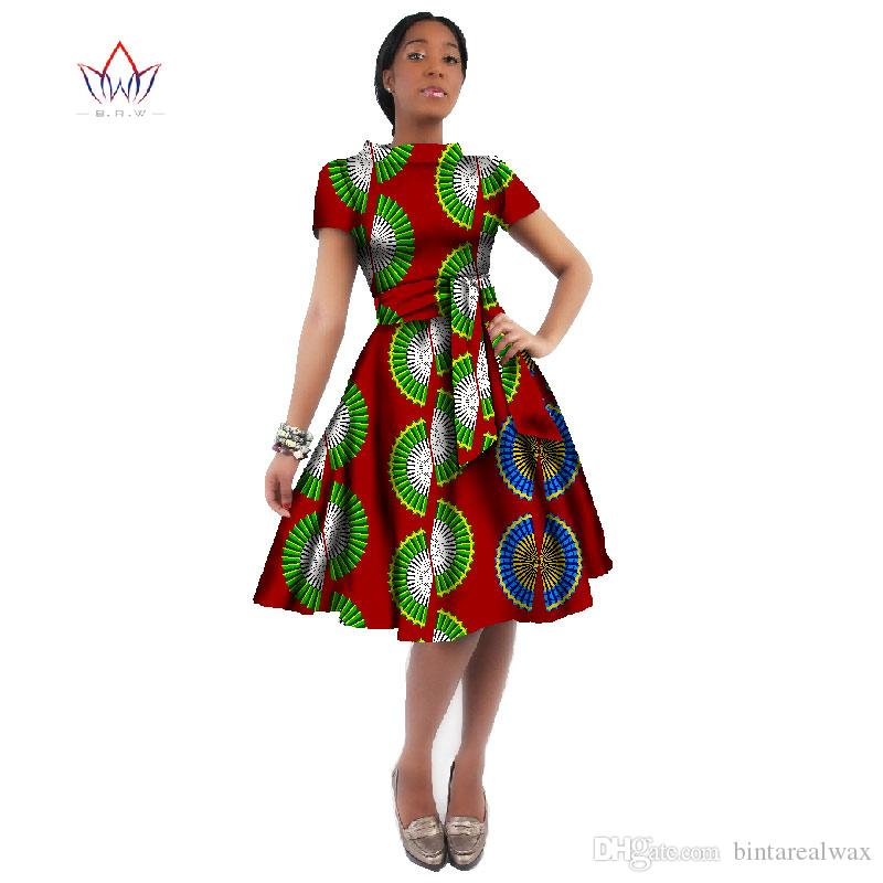women print dress 2016 summer private custom african party dresses