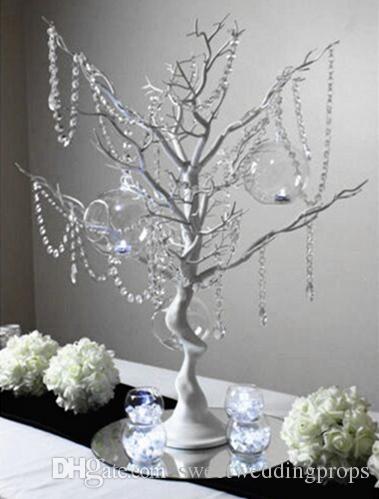 kein hangging Kristall Elegantes Großhandelsbaummittelstück / Hochzeitstafel Baummittelstücke / Weihnachtsbaummitte