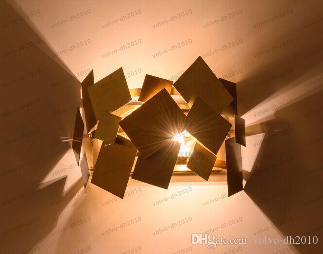 Populaire italie conception en acier inoxydable or moderne led lampe lampe europe allée couloir lumières salon chambre applique murale LLFA