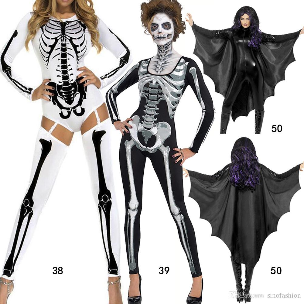Halloween Costumes Cosplay Theme Party Service New Skeleton Ghost ...