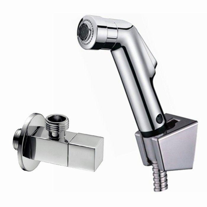 황동 구리 각도 밸브 욕실 분무기 ABS 손으로 개최 샤워와 화장실 비데 shattaf 스프레이 화장실 샤워 세트 BD111