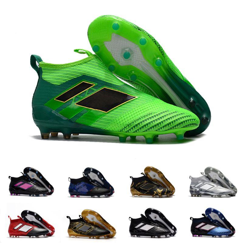 new concept 48a02 557f1 2017 Venta Al Por Mayor Descuento ACE 17+ PureControl FG Hombres Zapatos De  Fútbol Botas Slip On Cheap Performance 17 Ace Cleats Fútbol Zapatillas Nuevo  Por ...