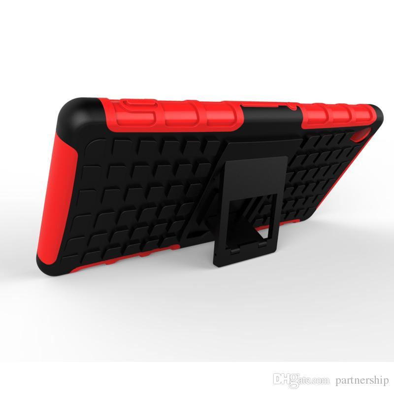 Hibrid Dokulu Zırh Hard Case Sony Xperia Için Z2 Z3 Z5 Kompakt Premium M4 Aqua M5 Çift X XA Durumda Darbeye Stent Kapak