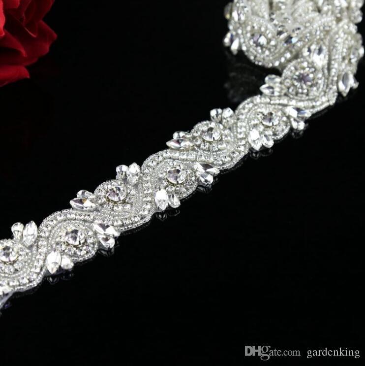 1 Yard Bridal applique, rhinestone applique Trimming,, high end applique,Sash Applique,diy Headband
