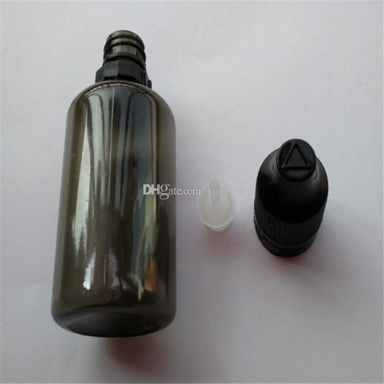 E liquid 30ml plastic empty bottle with long thin tip dropper and child safety cap E cig ejuice PET bottle