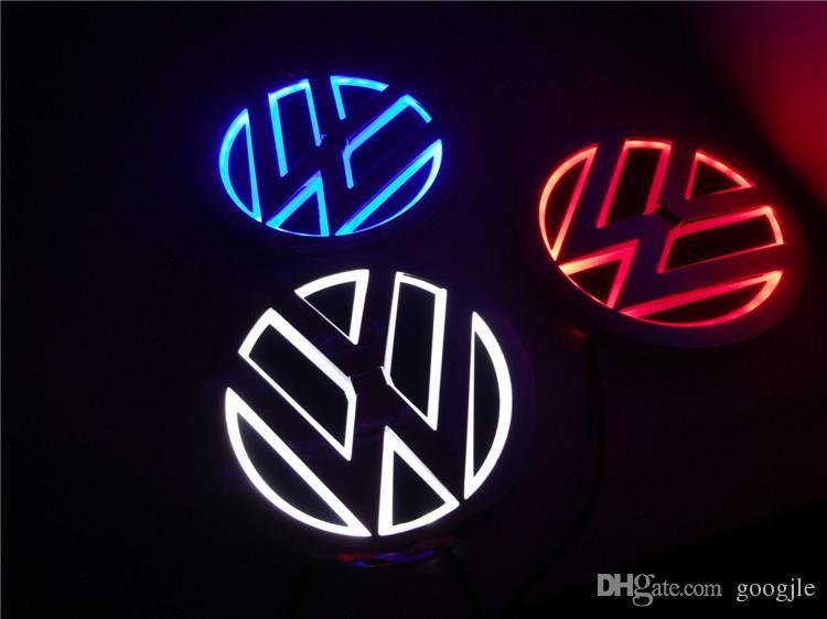 5D levou logotipo do carro da lâmpada 110mm para VW GOLF MAGOTAN Scirocco Tiguan CC BORA emblema do carro LEVOU símbolos lâmpada Auto emblema traseiro luz