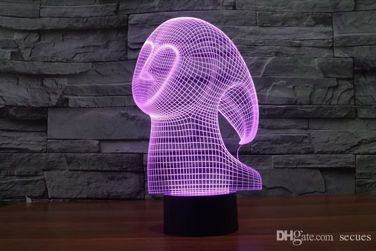2017 spirito fantasma 3D ottico della luce notturna 9 LED all'ingrosso Night Light DC 5V fabbrica