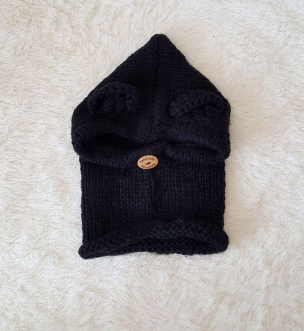 2017 осень и зима Европа и США вязаная шапка медведь халат застегнутый уход за ребенком шеи плащ шляпа