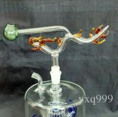 Classico vaso del drago, consegna casuale a colori, accessori narghilé in vetro all'ingrosso, accessori bong in vetro, spedizione gratuita