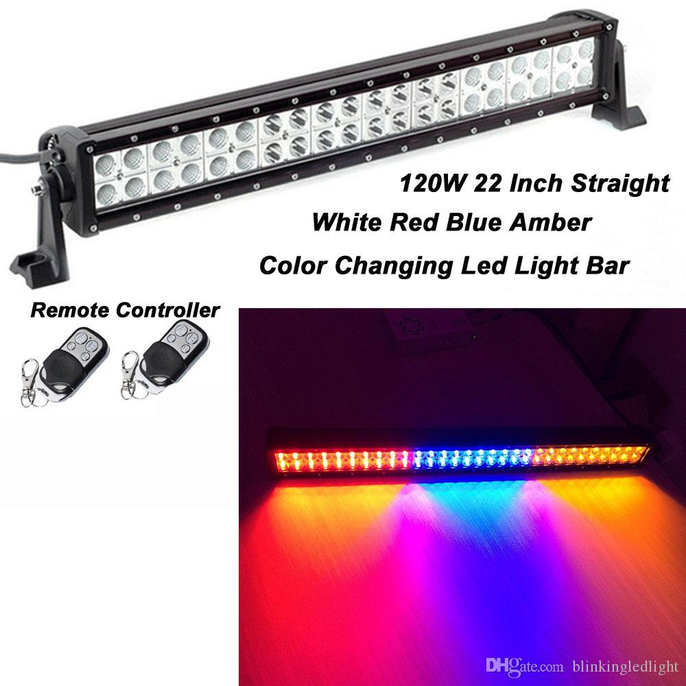 Straight 120w 22inch 12000lm Led Light Bar Flood Spot Combo Beam 3w Led Lights With Blue White Red Amber Color Changing Led Light Bar Led Light On Led Light ...  sc 1 st  DHgate.com & Straight 120w 22inch 12000lm Led Light Bar Flood Spot Combo Beam 3w ...