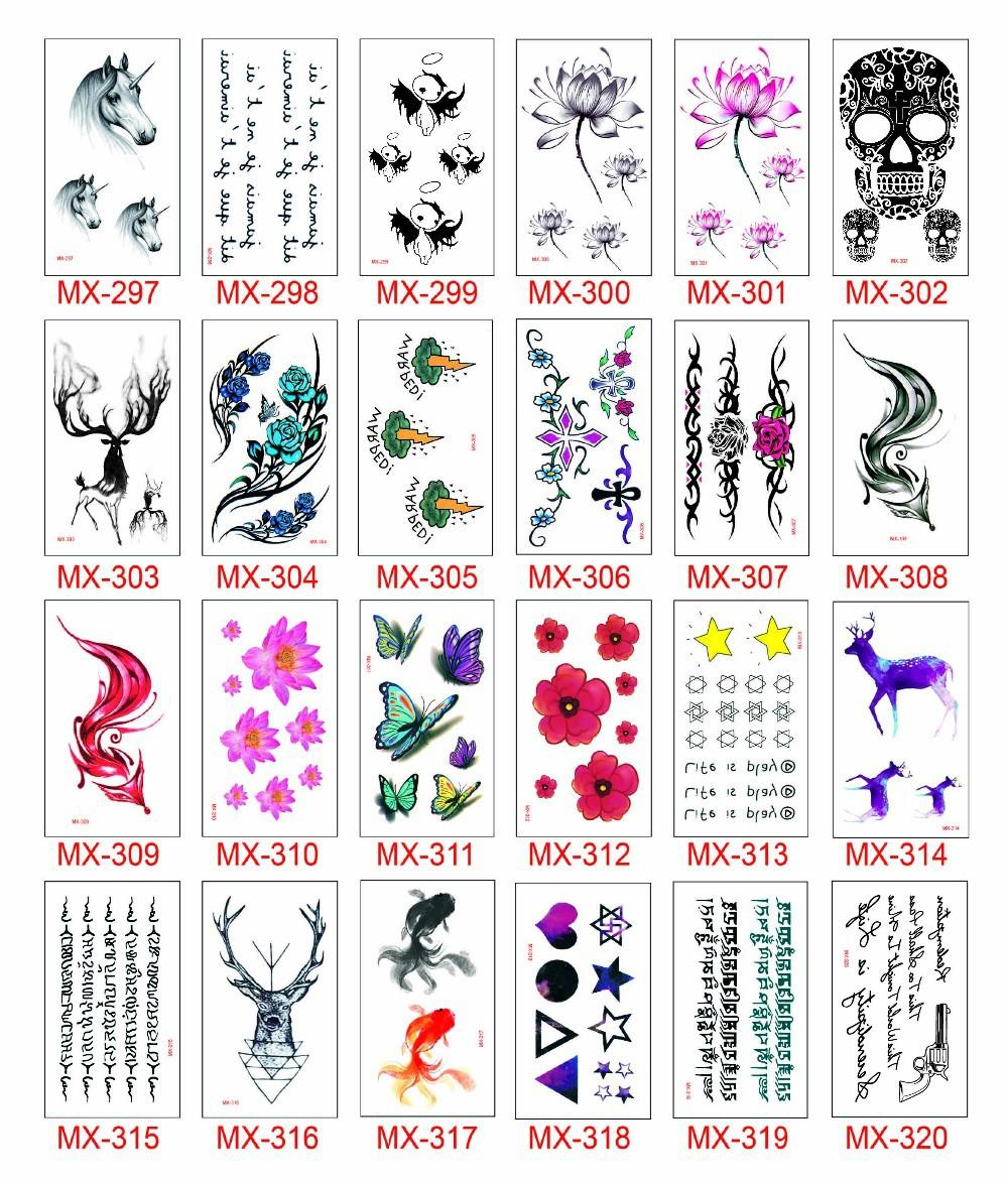 10560mm168 Numbers Summer Style Cute Cheap Lettering Bird Arrows Waterproof Temporary Body Art Tatto Stickers Drawing Tattoo Transfer Tattoos