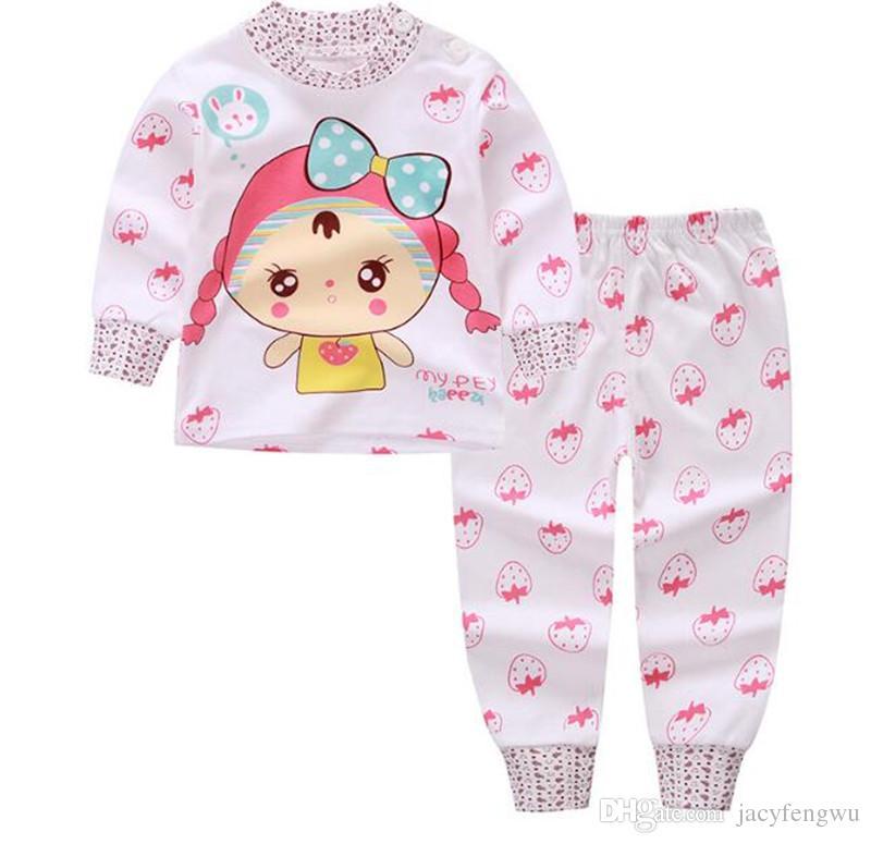d4857d302 Fall boutique sets girls newborn baby sets Children clothing infant boy  clothing kids pajamas boys underwear Top+pants kids suit CQZ130